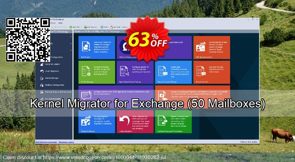 Get 63% OFF Kernel Migrator for Exchange, 50 Mailboxes Coupon