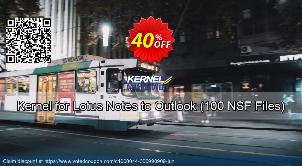 Get 40% OFF Kernel for Lotus Notes to Outlook, 100 NSF Files Coupon