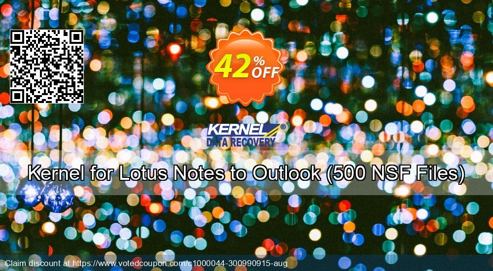 Get 50% OFF Kernel for Lotus Notes to Outlook, 500 NSF Files Coupon