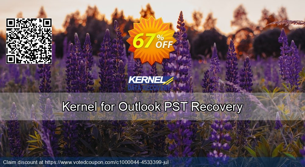 Get 67% OFF Kernel for Outlook PST Recovery Coupon