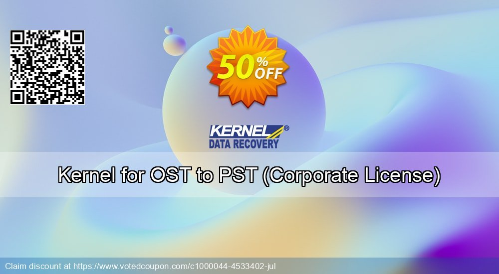 Get 50% OFF Kernel for OST to PST, Corporate License Coupon