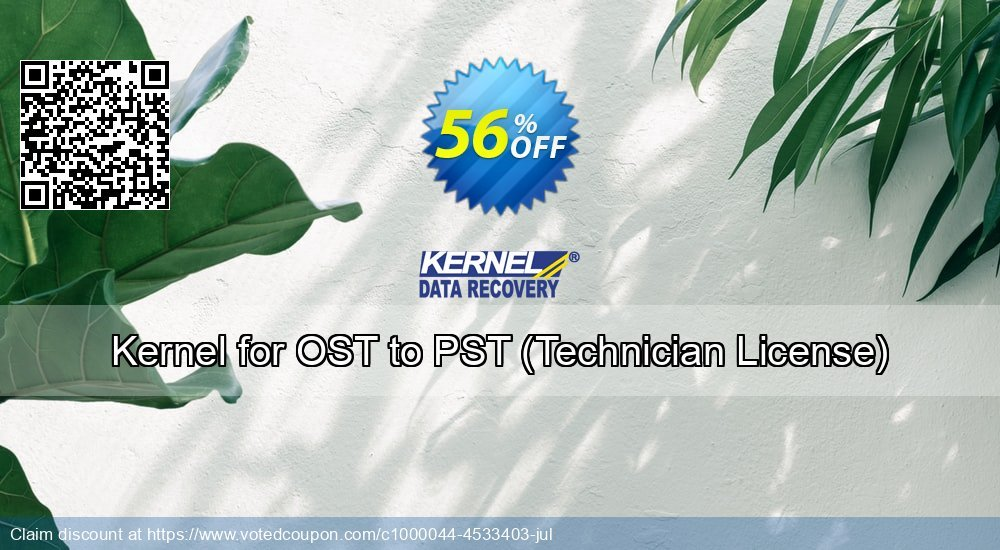 Get 56% OFF Kernel for OST to PST, Technician License Coupon