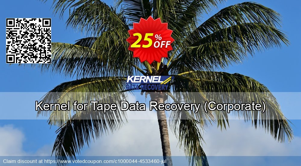 Get 20% OFF Kernel Recovery for Tape - Corporate License offering sales