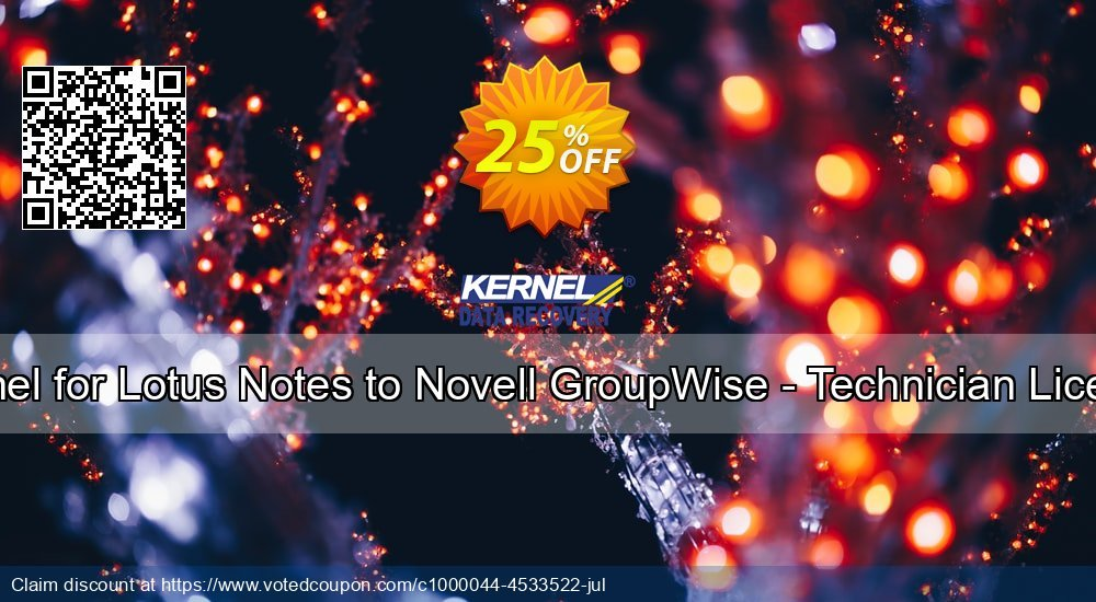 Get 20% OFF Kernel for Lotus Notes to Novell GroupWise - Technician License deals