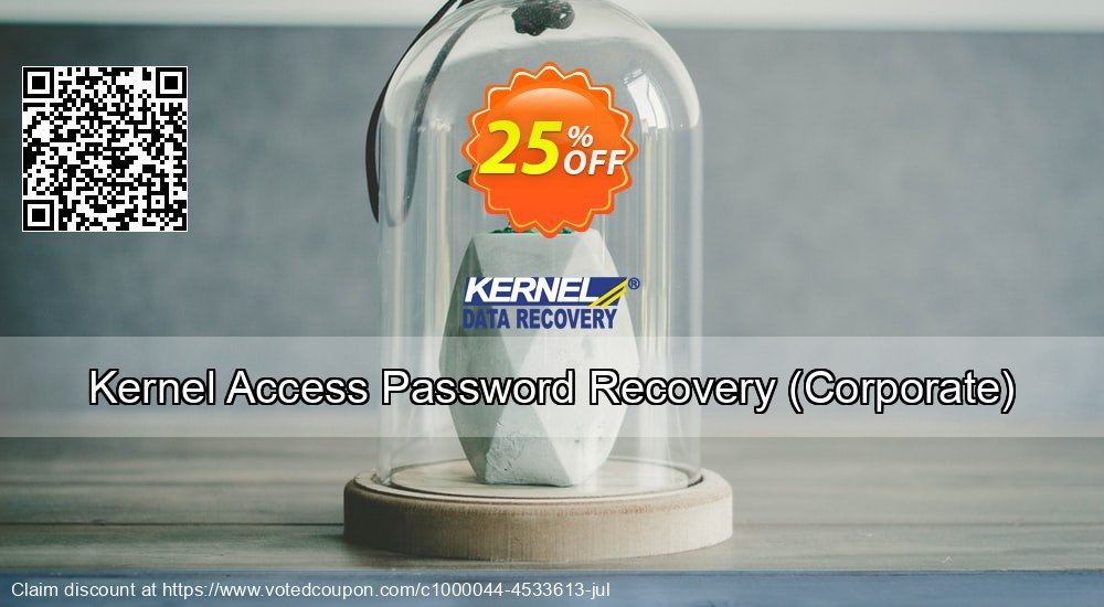 Get 25% OFF Kernel Access Password Recovery, Corporate Coupon