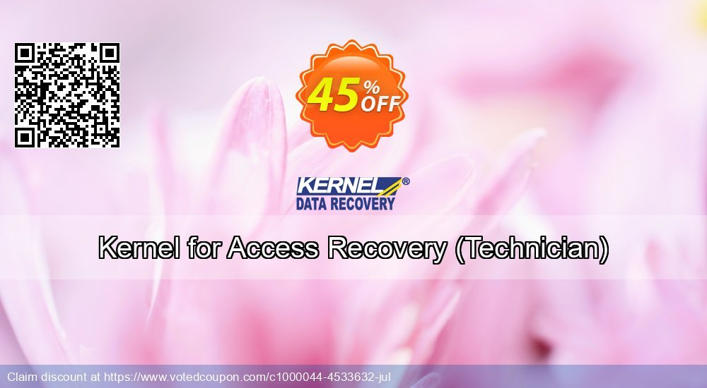 Get 45% OFF Kernel for Access Recovery, Technician Coupon