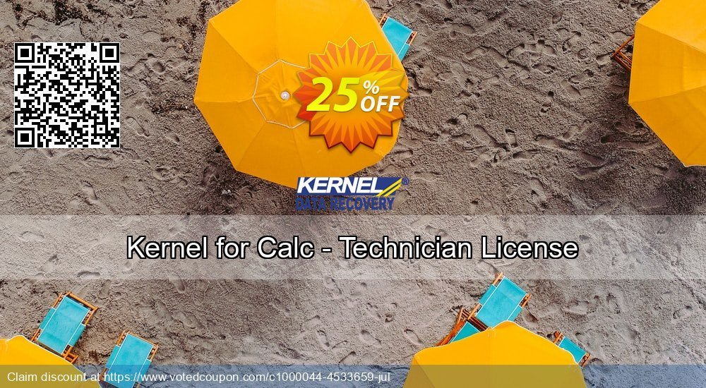 Get 20% OFF Kernel for Calc - Technician License offering discount
