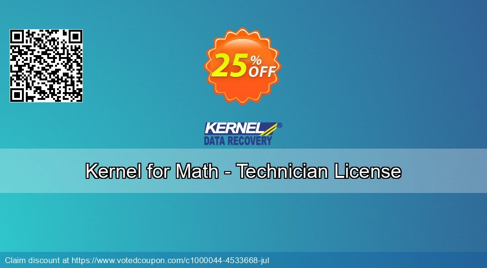 Get 20% OFF Kernel for Math - Technician License promotions