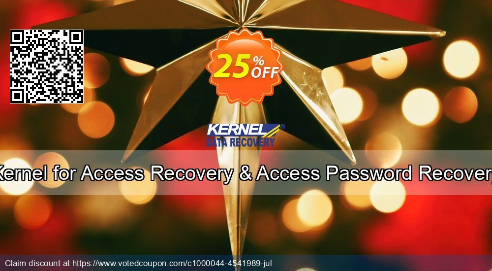 Get 25% OFF Kernel for Access Recovery & Access Password Recovery Coupon