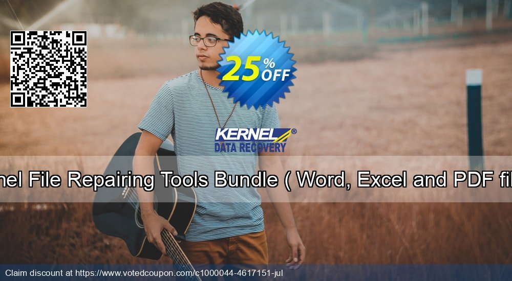 Get 10% OFF Kernel File Repairing Tools Bundle ( Word, Excel and PDF files ) offering sales