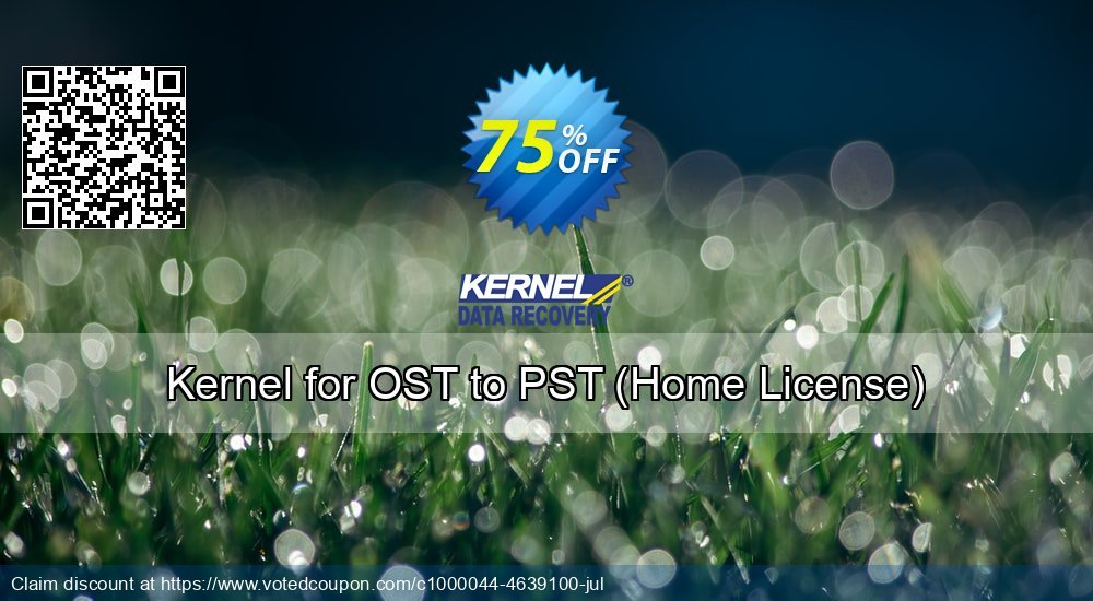 Get 75% OFF Kernel for OST to PST, Home License Coupon