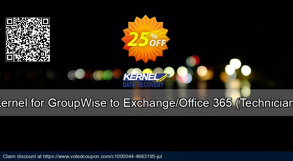 Get 10% OFF Kernel for GroupWise to Exchange ( License for (200 - 500) Mailboxes ) discounts