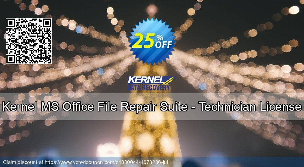 Get 10% OFF Kernel MS Office File Repair Suite - Technician License offering sales