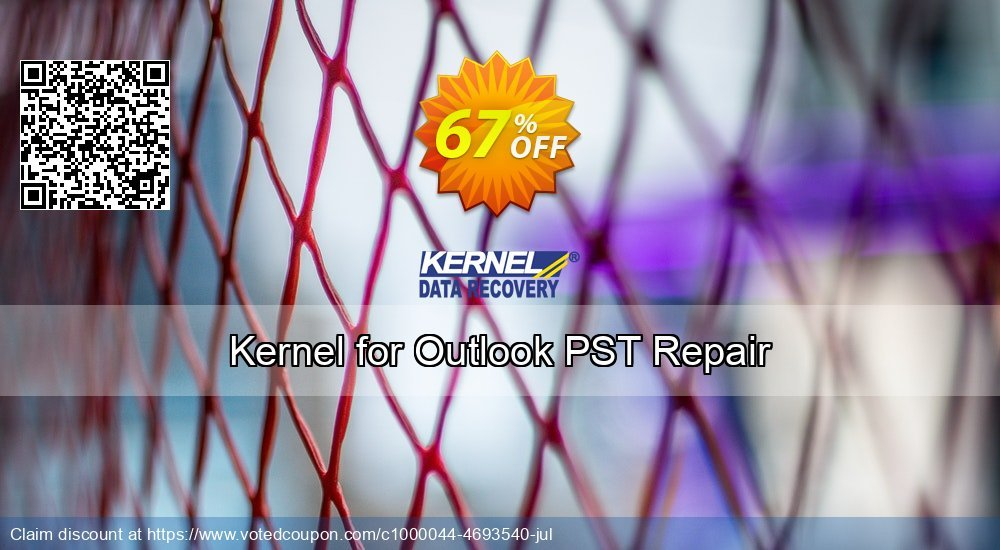 Get 67% OFF Kernel for Outlook PST Repair Coupon