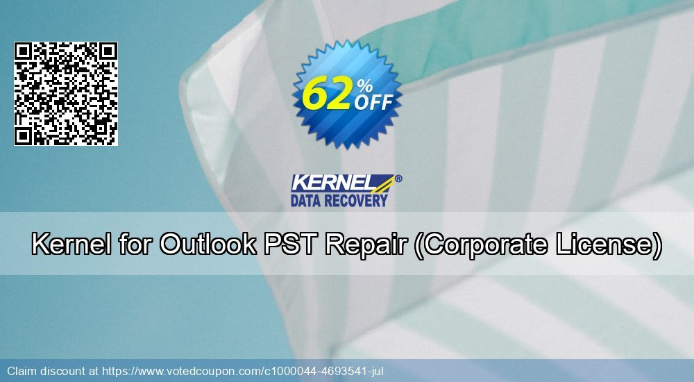 Get 62% OFF Kernel for Outlook PST Repair, Corporate License Coupon