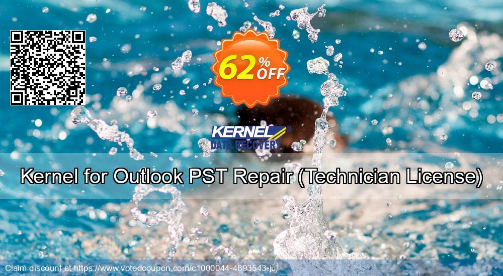 Get 62% OFF Kernel for Outlook PST Repair, Technician License Coupon