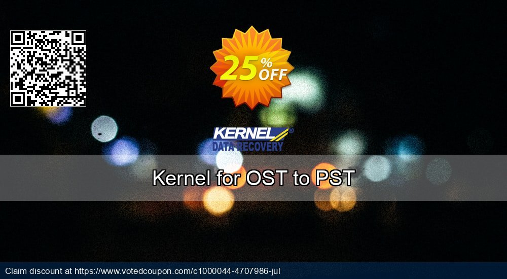 Get 26% OFF Kernel for OST to PST Coupon