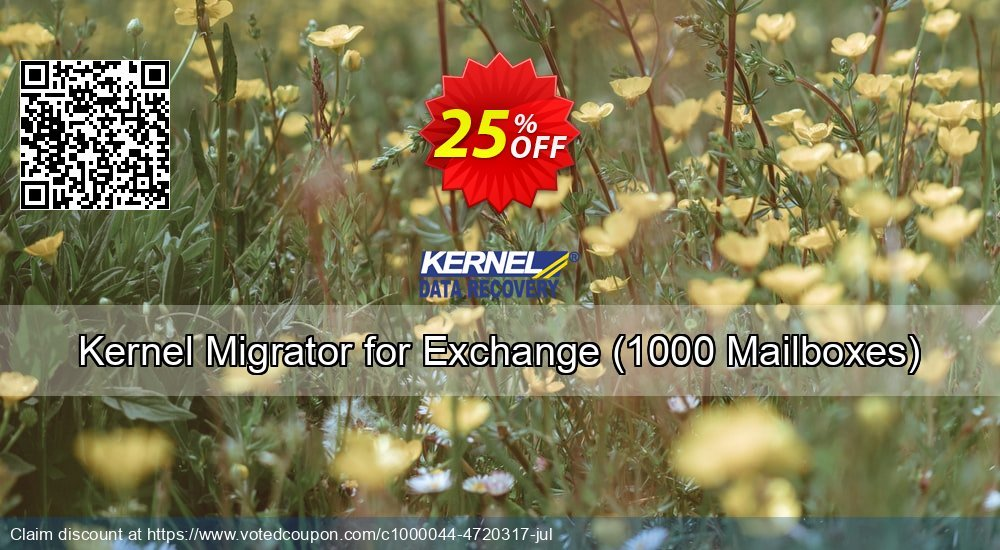 Get 33% OFF Kernel Migrator for Exchange, 1000 Mailboxes Coupon