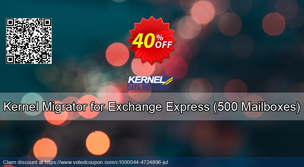 Get 25% OFF Kernel Migrator for Exchange Express, 500 Mailboxes Coupon