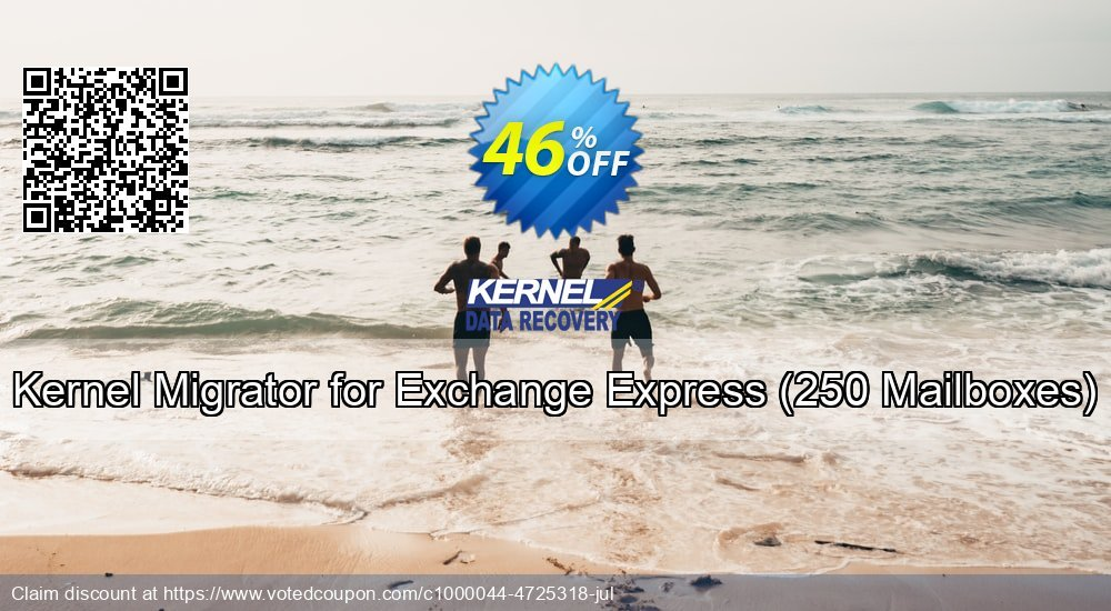 Get 25% OFF Kernel Migrator for Exchange Express, 250 Mailboxes Coupon