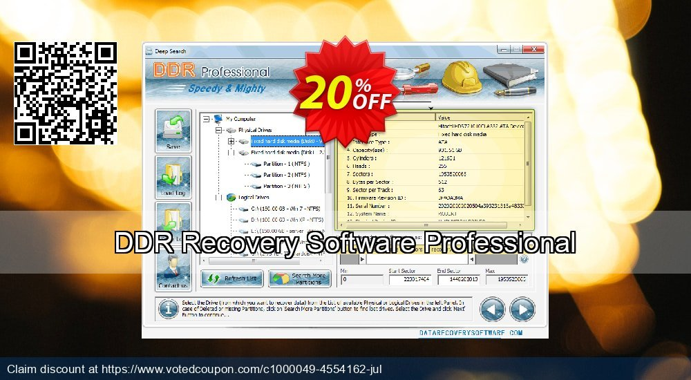Get 20% OFF DDR Recovery Software Professional Coupon