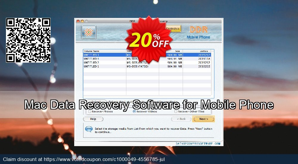 Get 20% OFF Mac Data Recovery Software for Mobile Phone Coupon