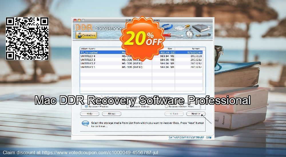 Get 20% OFF Mac DDR Recovery Software Professional Coupon