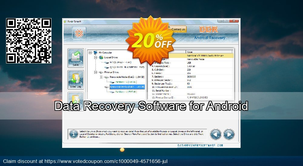 Get 20% OFF Data Recovery Software for Android Coupon