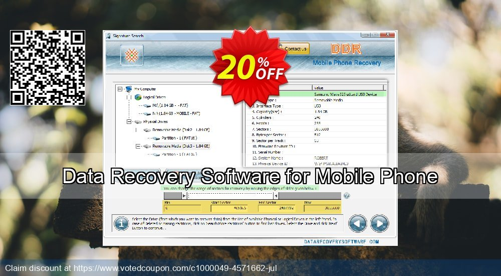 Get 20% OFF Data Recovery Software for Mobile Phone Coupon