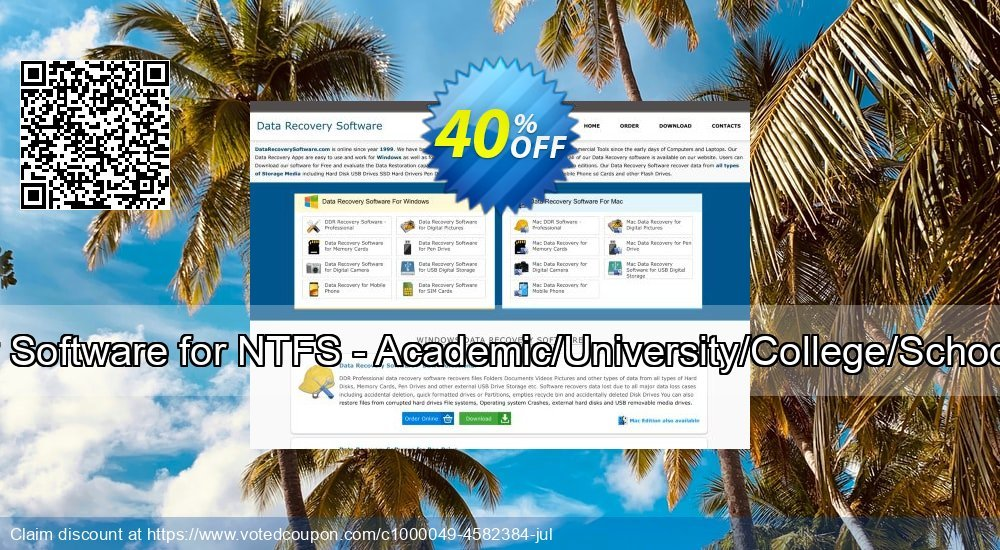 Get 30% OFF Data Recovery Software for NTFS - Academic/University/College/School User License offering sales