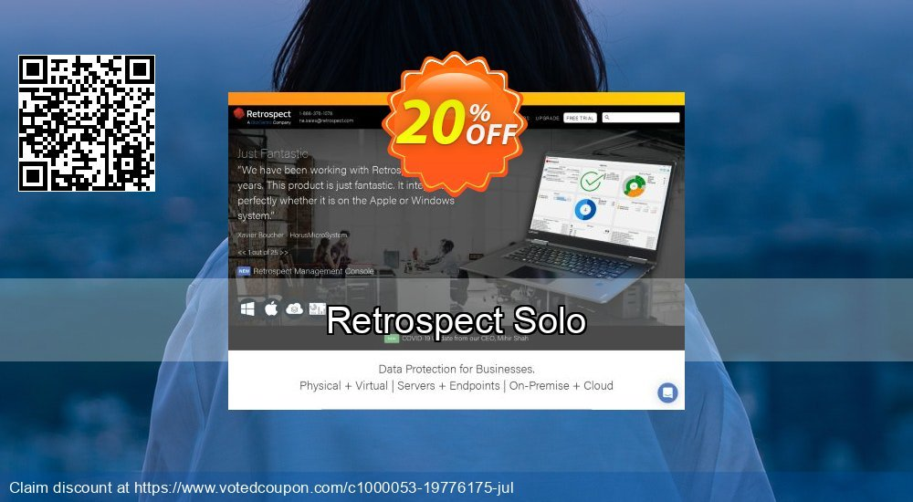 Get 20% OFF Retrospect Solo offering sales