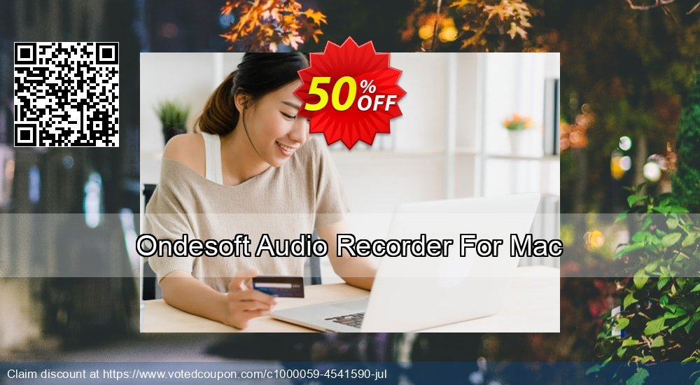 Get 50% OFF Ondesoft Audio Recorder For Mac offering sales