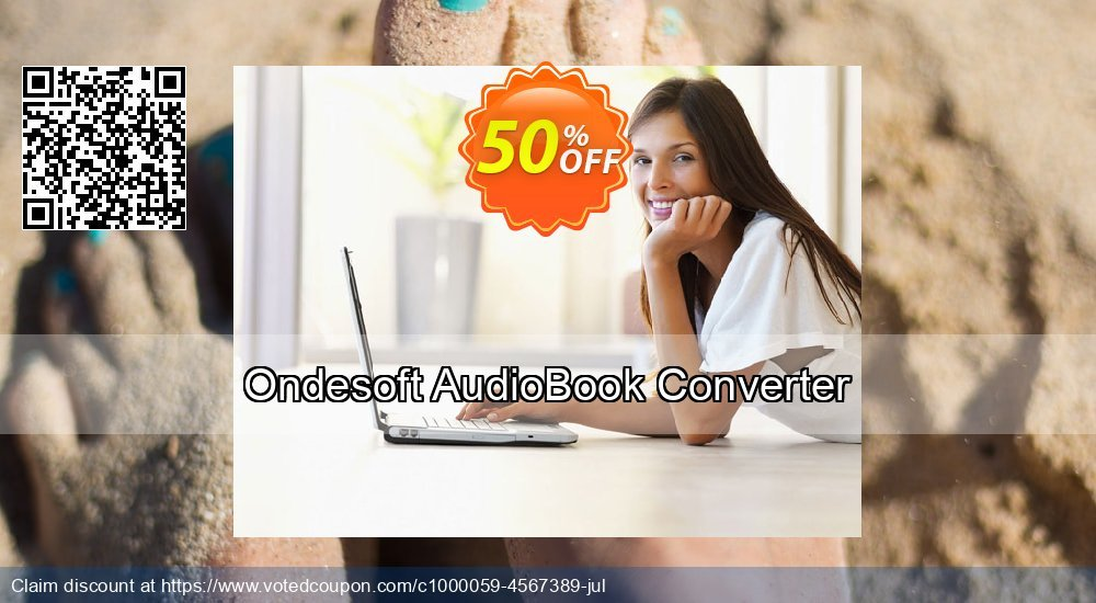 Get 50% OFF Ondesoft AudioBook Converter For Mac promo sales