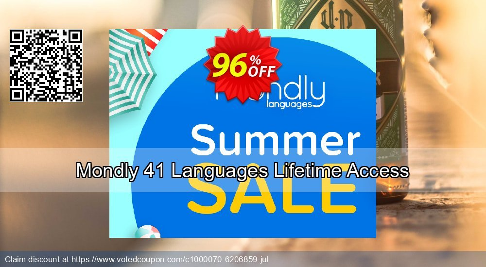 Get 20% OFF Mondly Lifetime Membership - Learn 33 Languages discounts