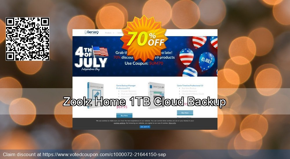 Get 90% OFF Zoolz Cloud Backup for Home 1TB - FAMILY promo