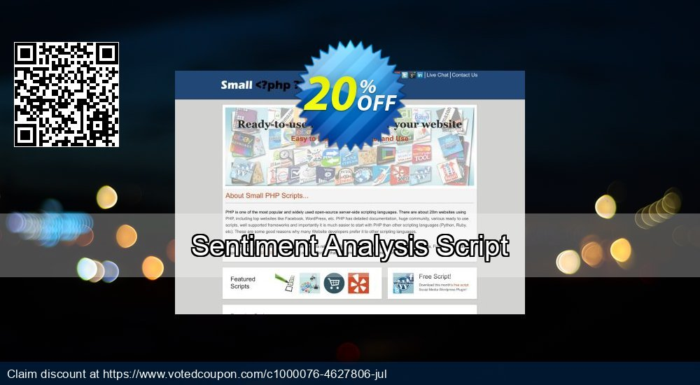 Get 10% OFF Sentiment Analysis Script offering sales