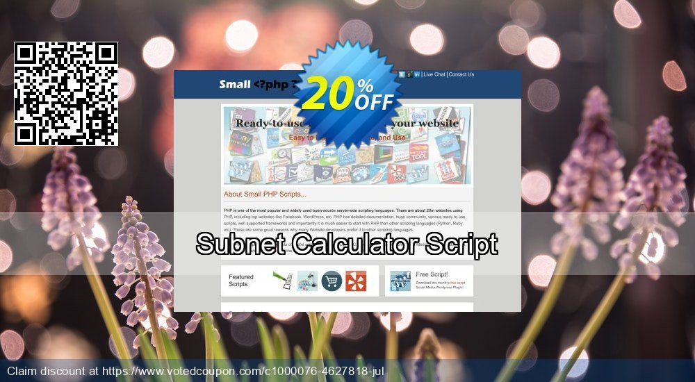 Get 10% OFF Subnet Calculator Script promo
