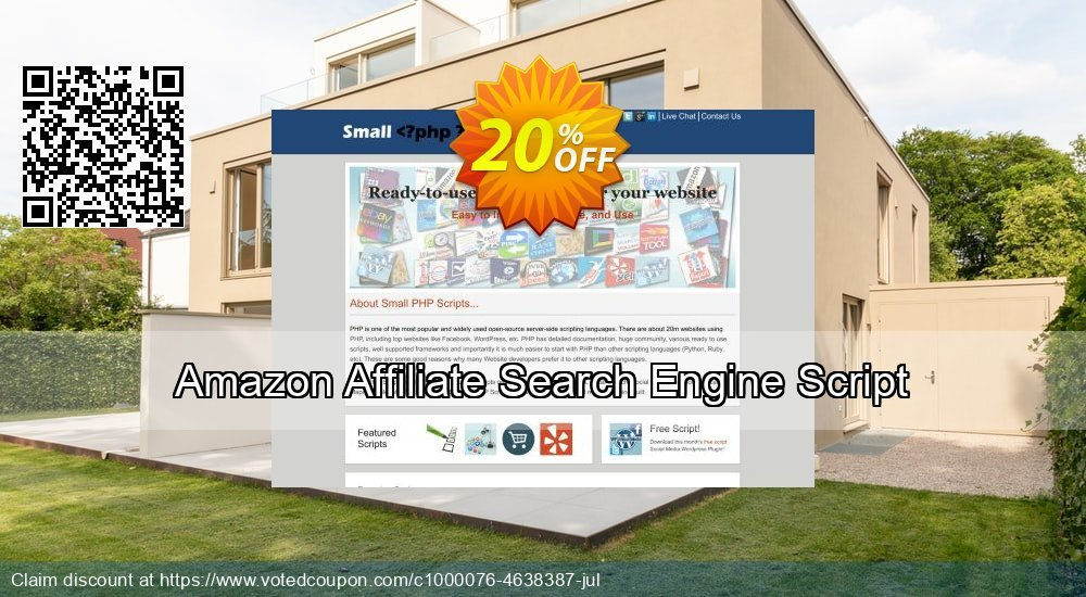 Get 10% OFF Amazon Affiliate Search Engine Script offering sales