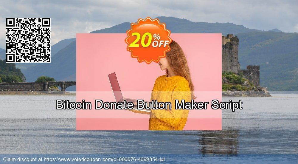 Get 10% OFF Bitcoin Donate Button Maker Script offering sales