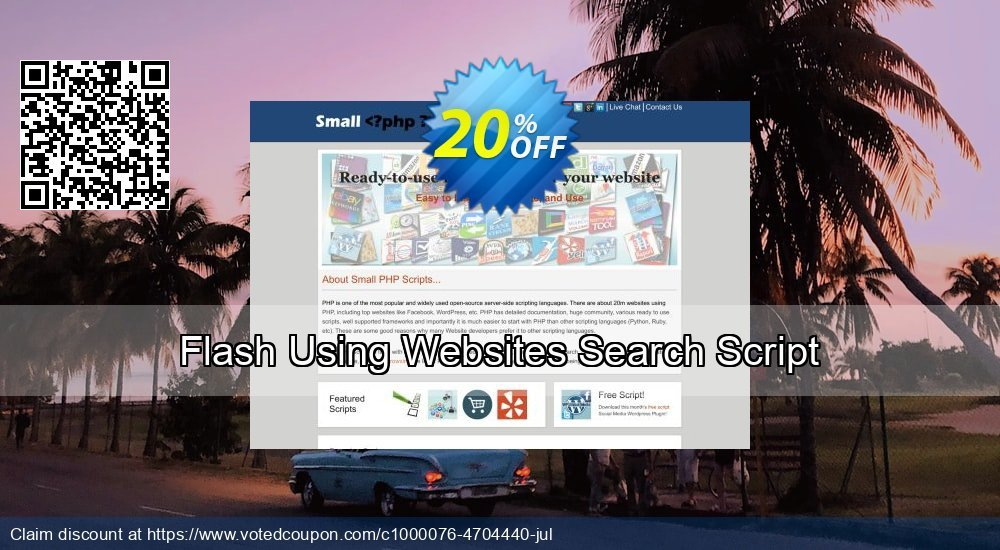 Get 10% OFF Flash Using Websites Search Script offering discount