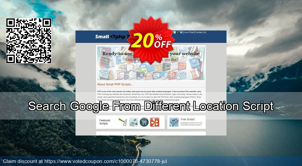 Get 10% OFF Search Google From Different Location Script offering sales