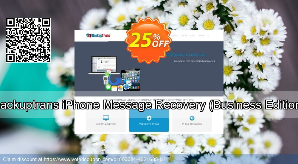 Get 10% OFF Backuptrans iPhone Message Recovery (Business Edition) offering sales