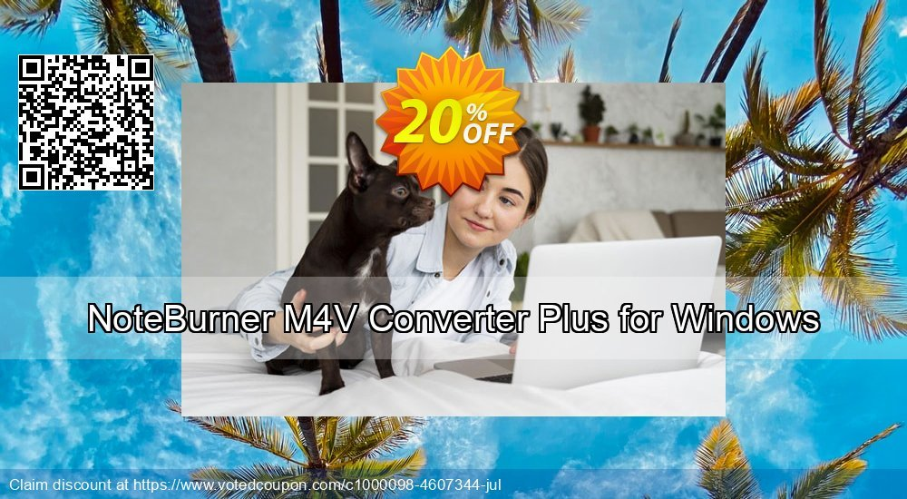 Get 20% OFF NoteBurner M4V Converter Plus for Windows offer