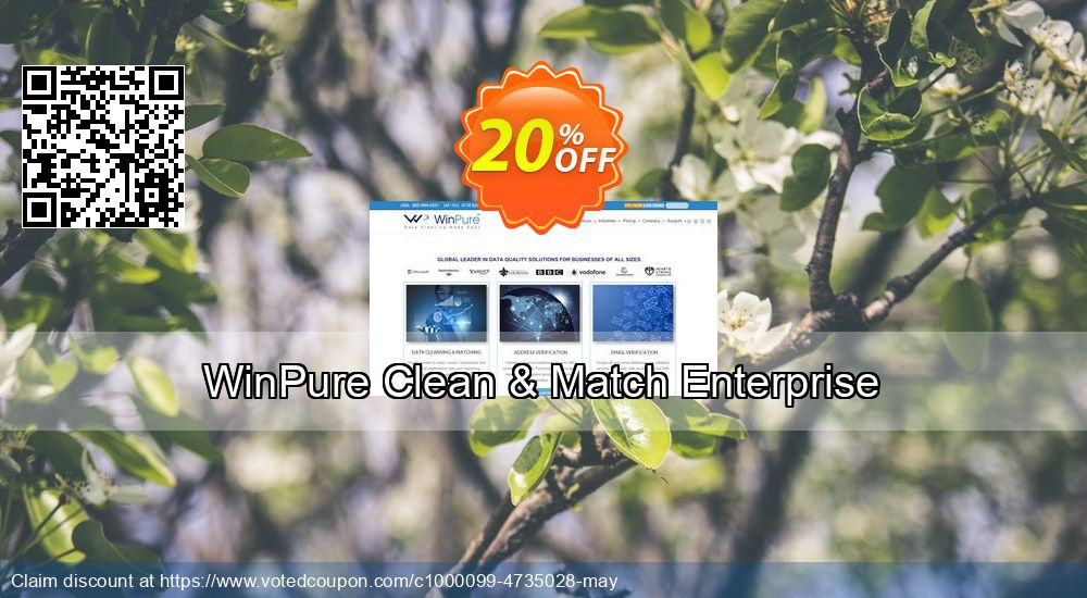 Get 20% OFF WinPure Clean & Match Enterprise offering sales