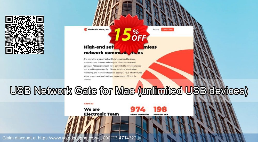 Get 10% OFF USB Network Gate for Mac unlimited USB devices offering deals