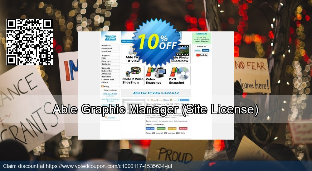 Get 30% OFF Able Graphic Manager (Site License) deals
