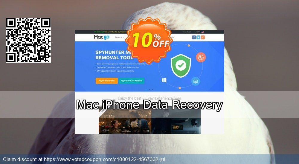 Get 10% OFF Mac iPhone Data Recovery offer