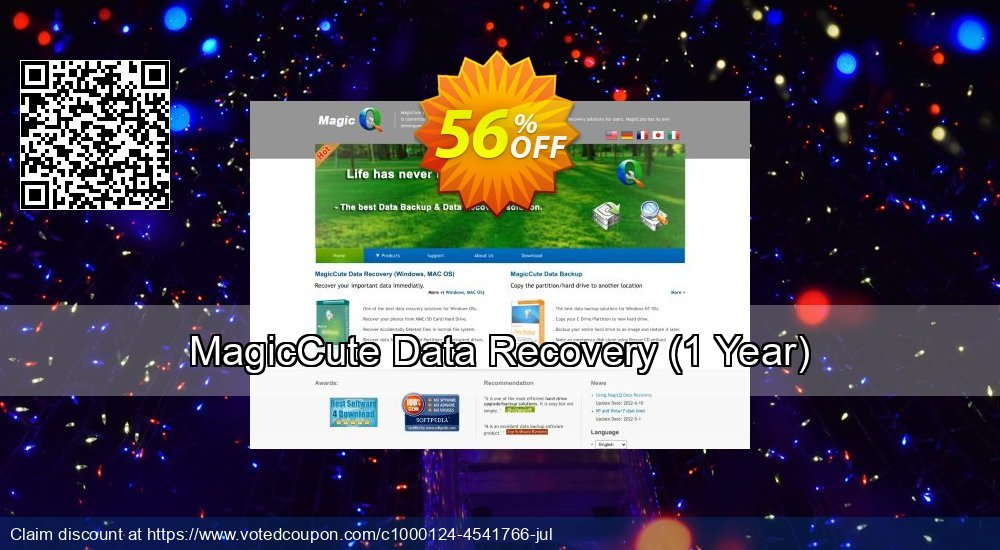 Get 56% OFF MagicCute Data Recovery, 1 Year Coupon
