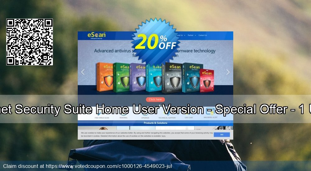 Get 20% OFF eScan Internet Security Suite Home User Version - Special Offer - 1 User 1 Years discounts