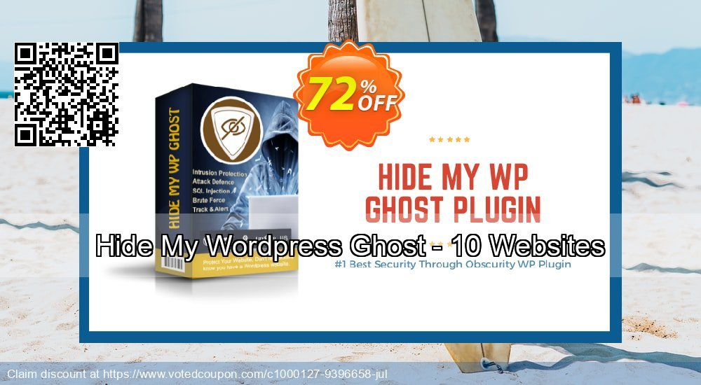 Get 72% OFF Hide My WP Ghost - 10 Websites discount